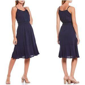 Anthropologie V-Neck Lace Sleeveless Midi Dress 3X